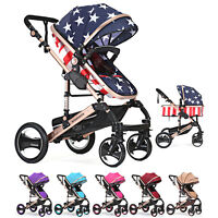Baby Stroller Multifunction Infant Pram Folding Newborn Carriage Pushchair