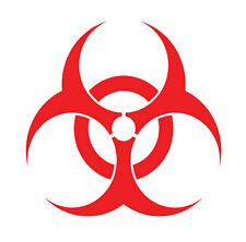 Biohazard sign logo, bio hazard, sticker vinyl decal, car window, doors, laptop