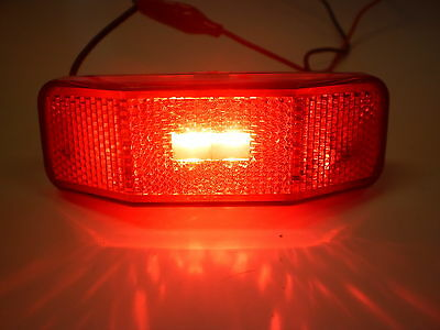 Bargman 31-99-001 Side Marker Light with Reflex Lens - Red