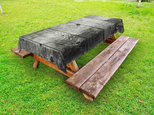 Dunkelgrau Outdoor-Tischdecke Ombre Holzplanken