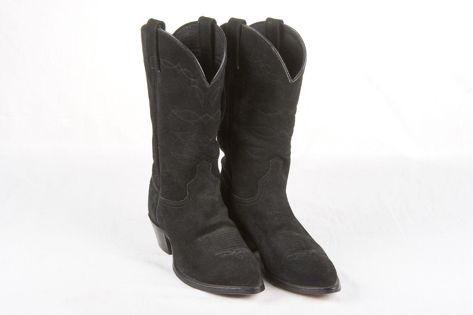 Chisholm botas de vaquero 9 Para Hombre Negra En Gamuza Negra Hombre Raven clásico hecho en Estados Unidos 0dabe5