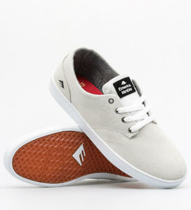 Emerica-Shoes-Romero-Laced-White-Suede-USA-SIZE-Skateboard-Sneakers-FREE-POST