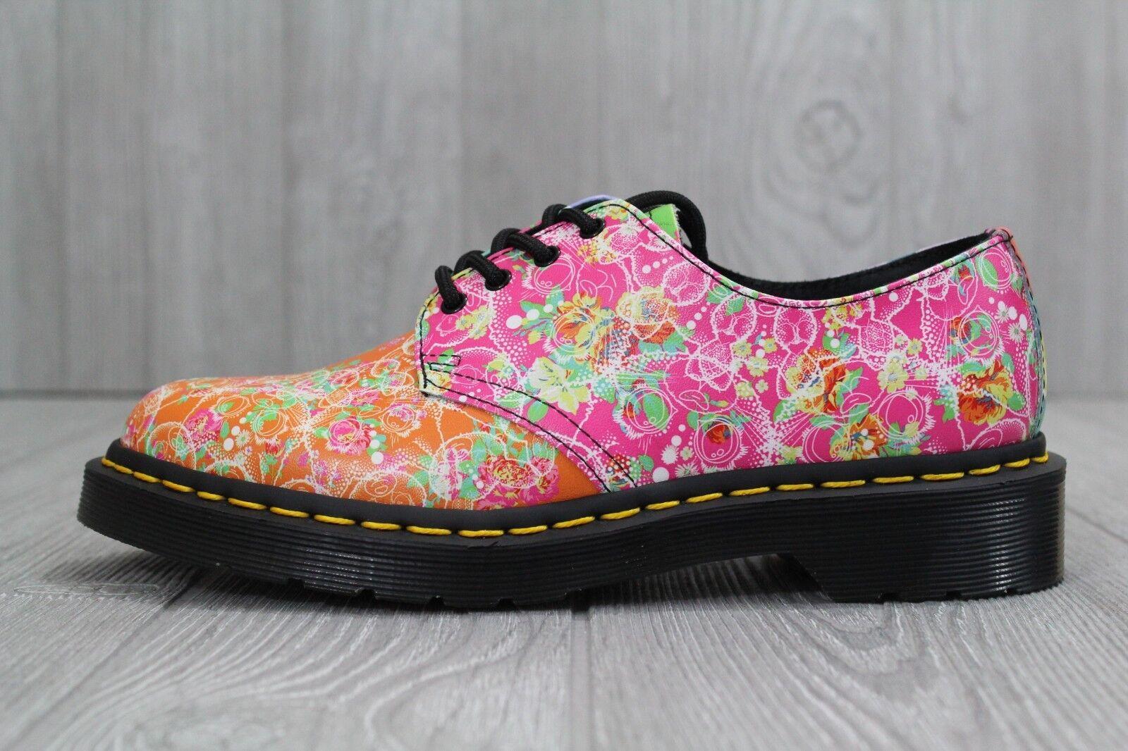30 New Dr.Martens Smiths Daze Multi Womens Floral Derby 8 EYE shoes Size 6