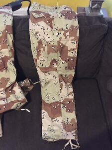 DESERT-STORM-Army-Military-Issue-Chocolate-Chip-Desert-Camo-Pants-Large-Regular