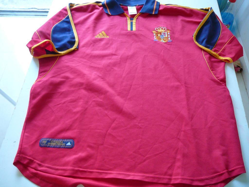 Maillot XL de foot Equipe d'Espagne XL Maillot camiseta Espana,jersey Shirt collector Spain 7764d5