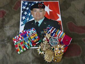 US-Grosse-und-Bandspangen-Ordensspange-Silver-Star-usw-Vietnam-Golf-General