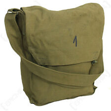 Original Czech BSS Sidepack - Gas Mask Bag - Khaki Brown  Military Surplus