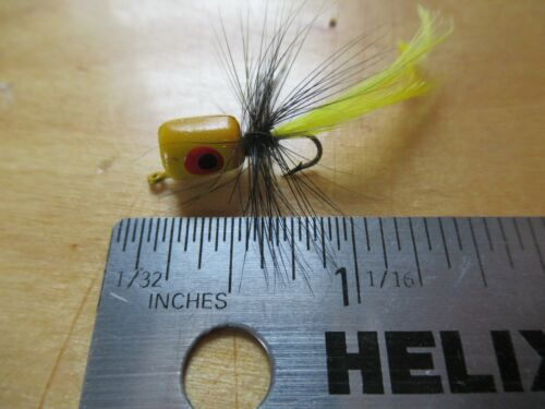 1 PANFISH TROUT BASS BREAM CRAPPIE BLUEGILL POPPER FLY FISHING YELLO CORK SPIDER