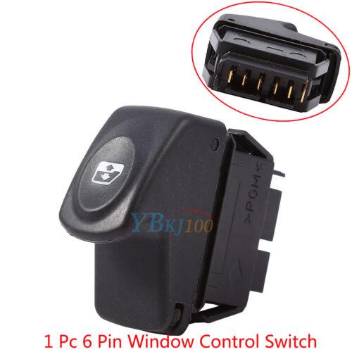 1* 6 Pins Car Power Window Control Switch For Renault Clio II 2 Megane I Kangoo