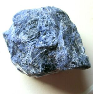 "Large Rough Sodalite Crystal Chunk Natural Blue and White 4"" x 4"" x 4"" 2 Lbs"
