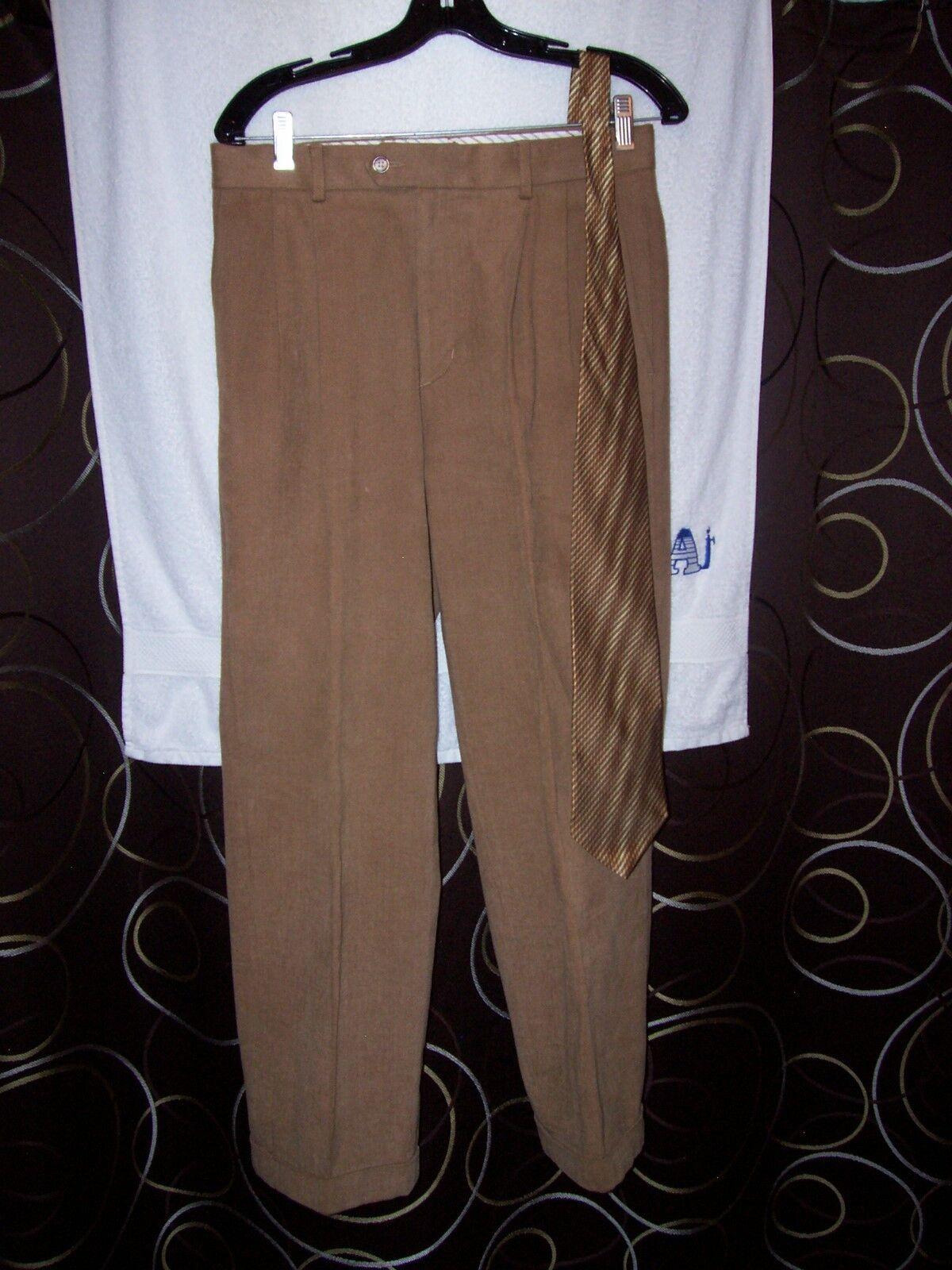 Men's sz 30 x 28 (2  to add) Bobby Jones Collection lux pants & Jhane Barne tie
