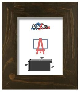 US Art Frames 4x6 Black Beads 2 1//8 Solid Wood Picture Poster Frames