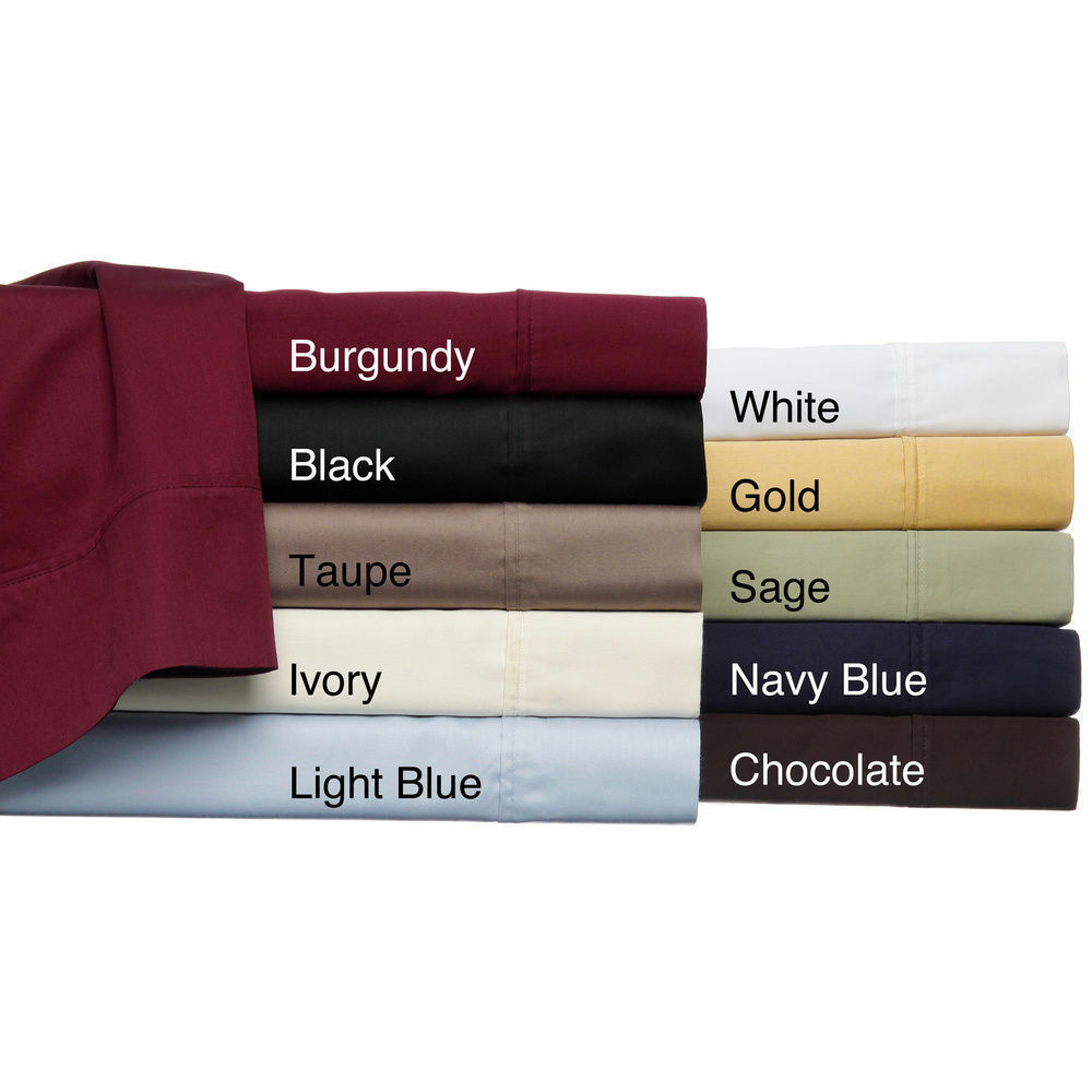 AU Super King Size Solid colors 1 PC Bed Skirt Valance 1000tc Egyptian Cotton