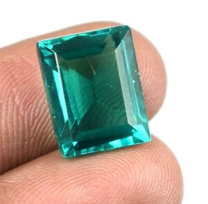 14.30 Ct Colombian Emerald May Birthstone Natural Emerald Cut Certified A25326