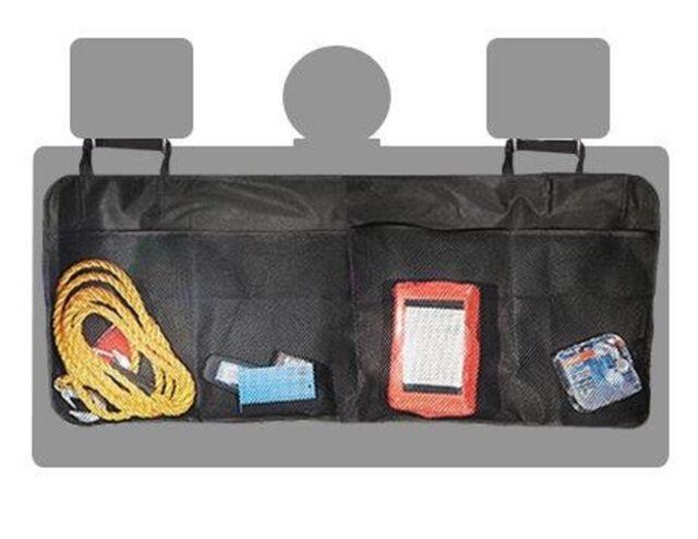 Auto Sitz Rücken Lehne Schmutz Schutz Organizer Tasche ROT gekettelt SCHWARZ