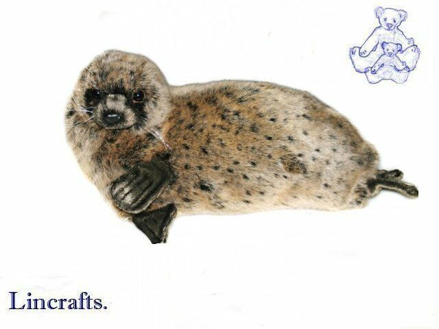 Monk Seal Plush Soft Toy by Hansa. Sold by Lincrafts. 4271