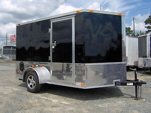 12-ft-enclosed-cargo-trailer-harley-Davidson-decal-6x10-ramp-door-toy-hauler-NEW