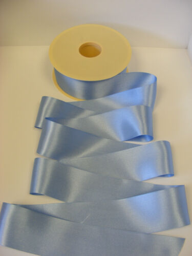 3mtrs CORNFLOWER blue Berisfords shade no 76 double satin ribbon various widths