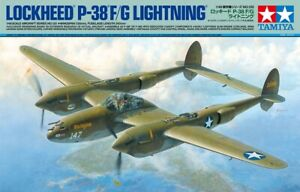 Tamiya-Lockheed-P-38-F-G-Lightning-1-48-scale-airplane-model-kit-new-61120