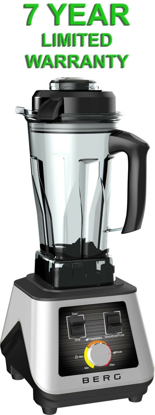 Berg 1500 W 2HP COMMERCIAL PROFESSIONNEL Food Nutrition Blender Smoothie Blanc