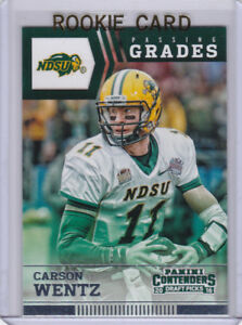 Details About Carson Wentz Rookie Card 2016 Panini Contenders Philadelphia Eagles Nfl Rc