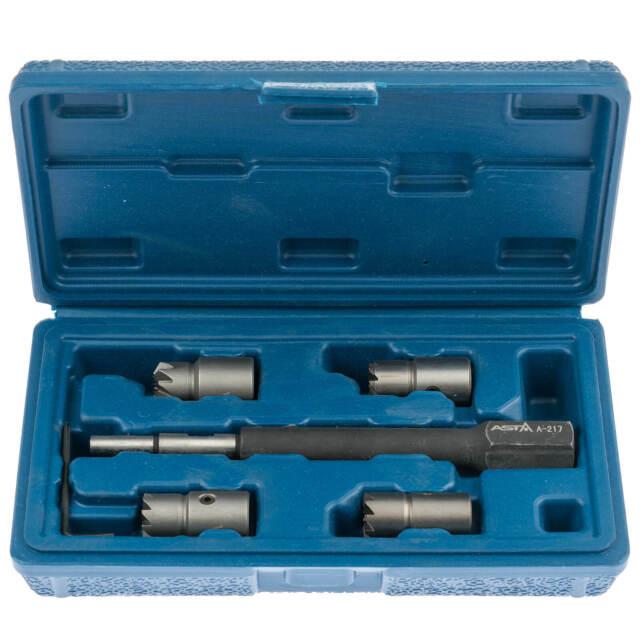 Injektor Fräser 6 tlg Dichtsitz Satz CDI Diesel Injektor Einbau Werkzeug