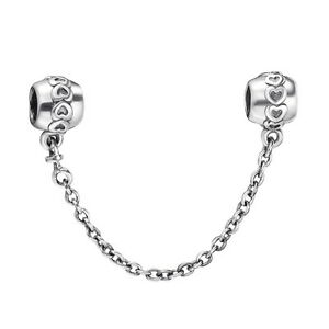 New-Arrival-Safety-Chain-925-Sterling-Silver-European-Bead-Charms-Fit-Bracelet