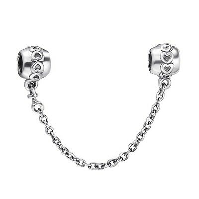 New Arrival Safety Chain 925 Sterling Silver European Bead Charms Fit Bracelet