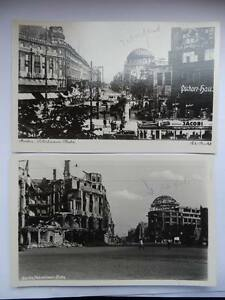 BERLIN before and after war 2 old postcards Potsdamer Platz - Italia - BERLIN before and after war 2 old postcards Potsdamer Platz - Italia