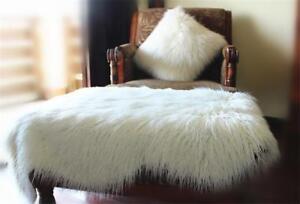 Details About Sheepskin Long Hair Shaggy Wool Cushion Soft Fur Rug Sofa Faux Lambs