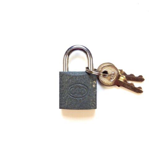 2 Keys 25mm 12 x Tri-Circle Cast Iron Heavy Duty Padlock