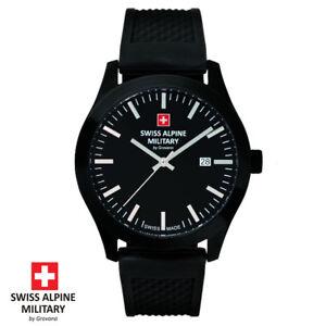 Swiss-Alpine-Military-by-Grovana-7055-1877-schwarz-Armband-Uhr-Herren-NEU