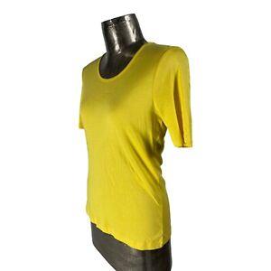 Signature Exp Cotton Yellow Top T-Shirt NEW UK M 10-12 (EU40) Women's RRP £22