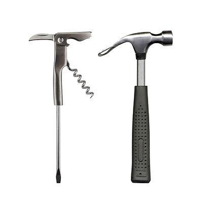Barbuzzo Bar Tools - Beer Hammer & Ice Crusher Corkscrew Screwdriver Bar Drinks