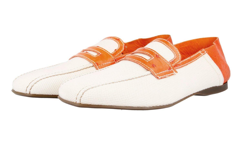 Luxury Prada Pantofola Scarpe Di Coccodrillo 2D1488 GRIGIO ARANCIO 9 43 43,5