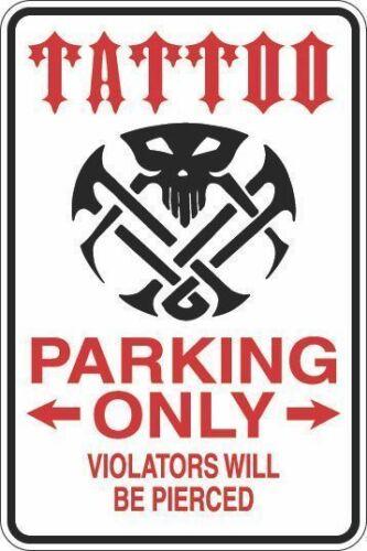 """* Aluminium Tatouage Parking Only 8/""""x12/"""" métal fantaisie signe S428"""