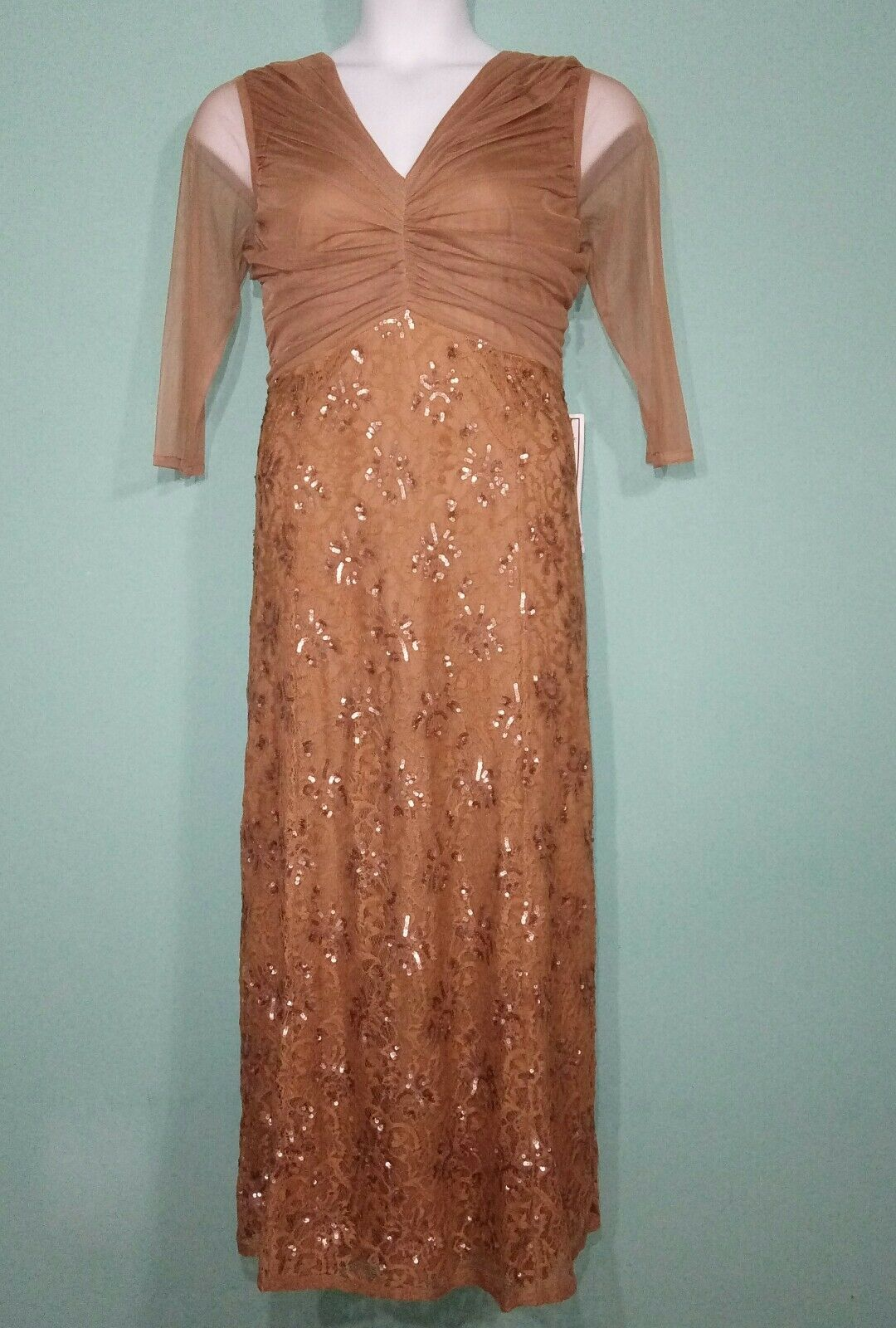 Romans Women Dress Full Length Lace and Sequin  Dress  Size 16W MSRP