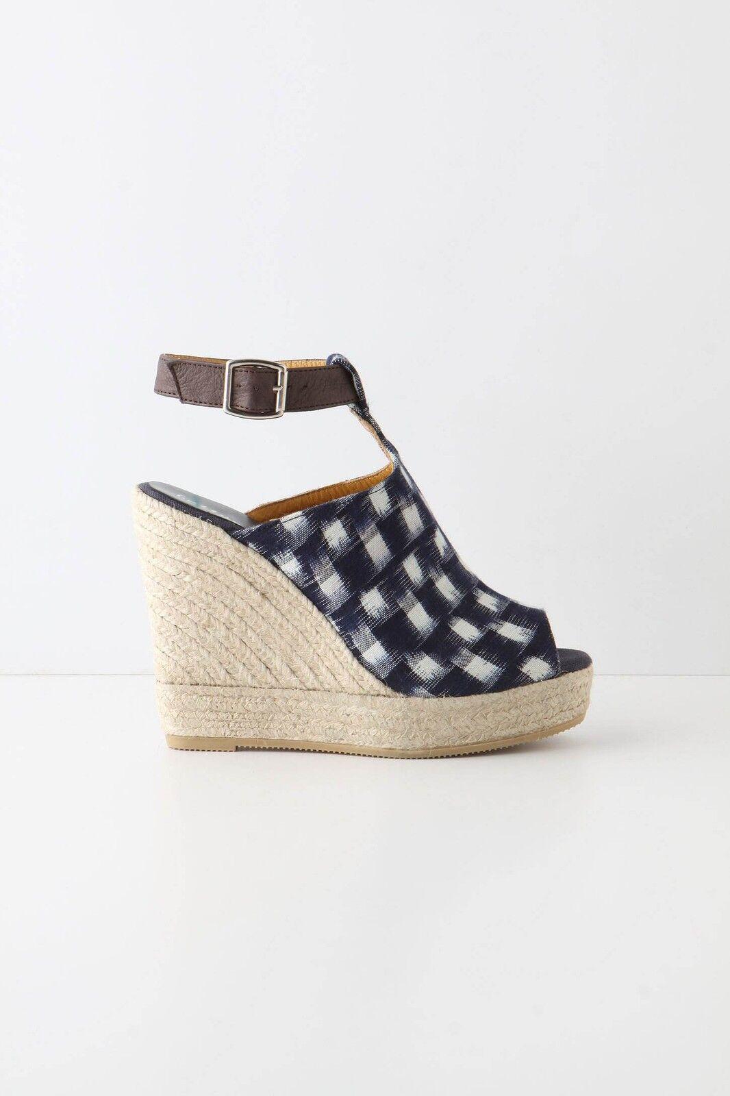 Anthropologie schuhe schuhe schuhe Sandals Flux Wedges Open Toe Gingham Bettye Muller, 41 2ee838