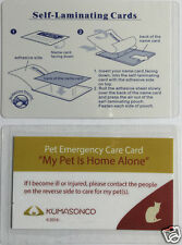 Pet Cat Home Alone Emergency Care ID Wallet Alert Cards w/Laminating (Pack of 2)