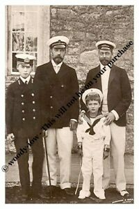 mm749-King-George-V-amp-cousin-Czar-Nicolas-amp-sons-as-mariners-Royalty-photo