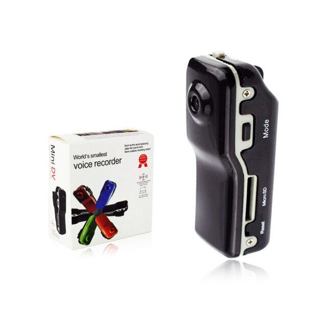 Mini MD80 Bike Helmet Dash Spy Camera DVR Cam Body Worn Motorbike Video Recorder