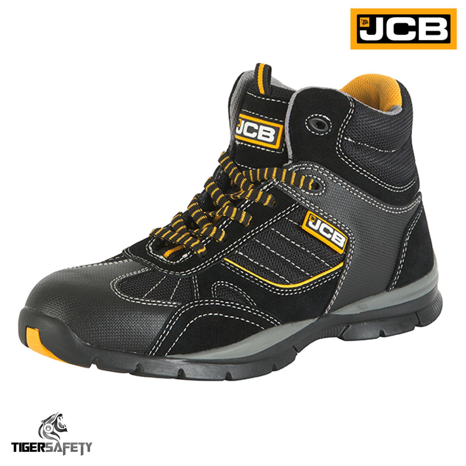 JCB Rock SB HRO Puntale in acciaio nero Sicurezza Stile Sportivo Stivali Di Sicurezza nero Lavoro Scarpe Da Ginnastica PPE 00c2b2