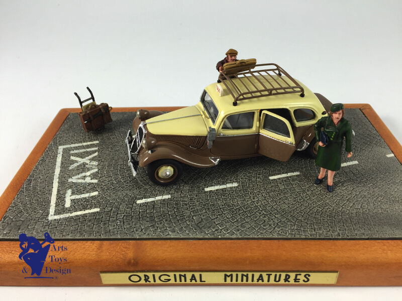1 43 miniature original citroen traction Devos family taxi brown cordina