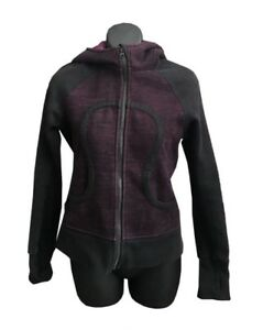 4a1c703a Details about LULULEMON SCUBA black purple melange Women's Jacket Yoga  -Size 4 small s
