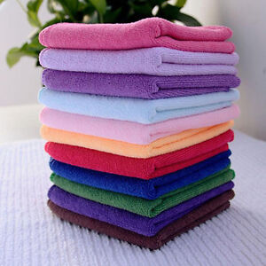 10pcs-Soft-Soothing-Microfiber-Face-Towel-Cleaning-Wash-Cloth-Hand-Square-Towel