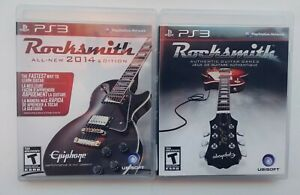 Rocksmith-2014-Ps3-Playstation-3-Complete-Tested-Rare-Lot-of-2-Games