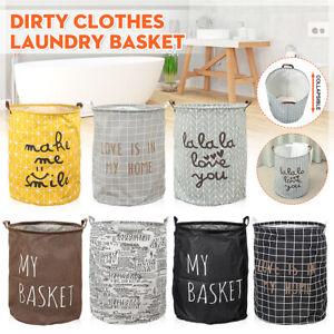Dirty-Clothes-Storage-Bag-Laundry-Hamper-Basket-Washing-Bin-Foldable-Household