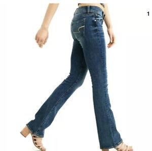 American-Eagle-Womens-Slim-Boot-Stretch-Jeans-Size-2-Long-Dark-Wash-26-X-34