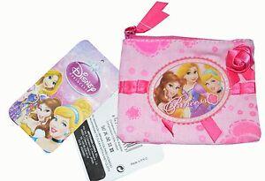 Nouveau Disney Princess Filles/enfants Pièce Pochette/sac à Main/portefeuille Rose De Noël De Noël-afficher Le Titre D'origine Les Couleurs Sont Frappantes