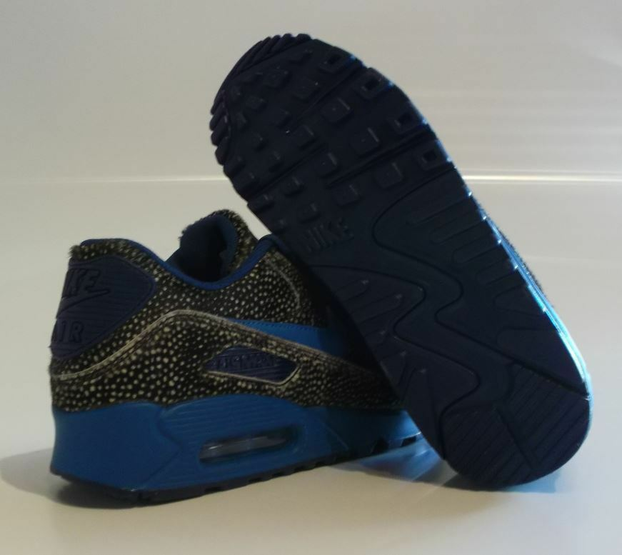 Nike Air Max 90 Premium ID Gr game 38,5 leopard navy blue game Gr royal 807505 991 2276b1
